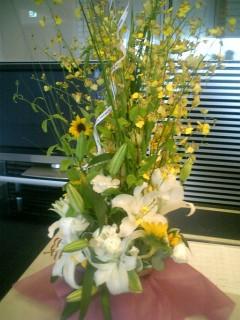 有志で贈ったお花
